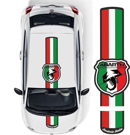 """Picture of Fiat 500 / 595 """"Abarth Scuderia Italia"""" Over the top Stripes / Stickers"""