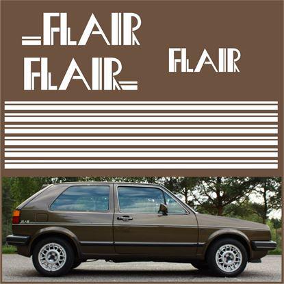 "Picture of MK2 Golf  ""Flair"" restoration Decals / Stripes"
