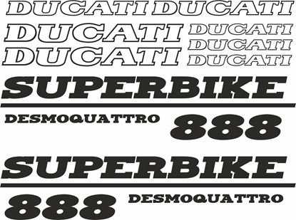 Picture of Ducati 888 Superbike desmodue  Decals / Stickers kit
