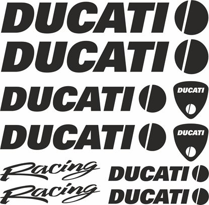 Picture of Ducati Racing Decals / Stickers kit