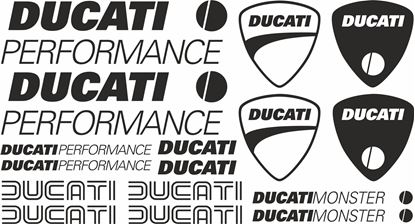 Picture of Ducati Monster Performance Decals / Stickers kit