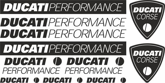 Picture of Ducati Performance / Corse Decals / Stickers kit