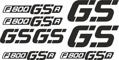 Picture of BMW F 800 GSA  Decals / Stickers kit