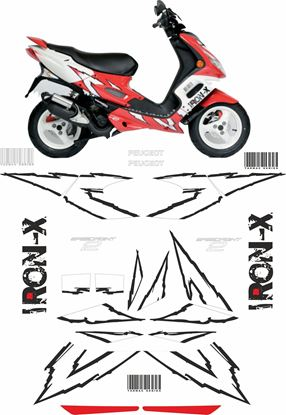 Picture of Peugeot Speed Fight 2 Iron X replacement Decals / Stickers