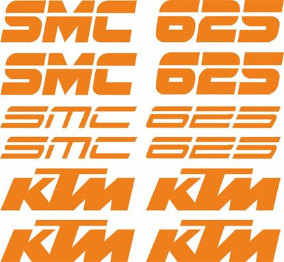 Picture of KTM 625 SMC Decals / Stickers Kit