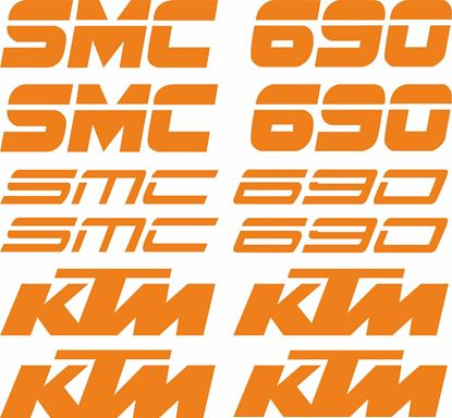 Picture of KTM 690 SMC Decals / Stickers Kit