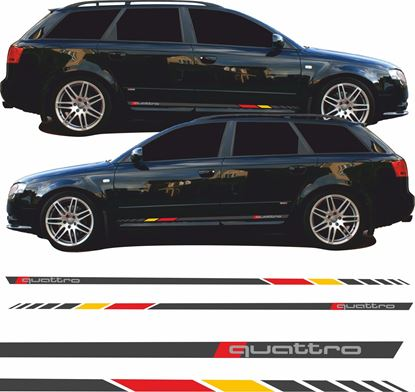 Picture of Audi A4 B6 / B7 Quattro Side Stripes / Stickers