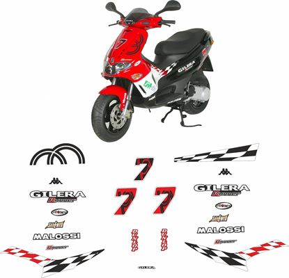Picture of Gilera Runner 50 2005 Racing Replica replacement Decals / Stickers