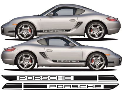 Picture of Porsche 987 Cayman / S 2006 side stripes / stickers