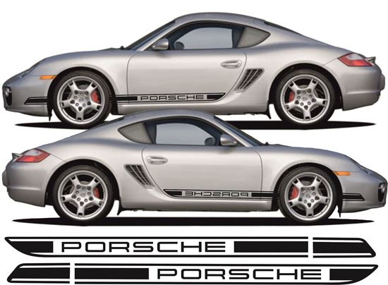 Zen Graphics Porsche 987 Cayman S 2006 Side Stripes