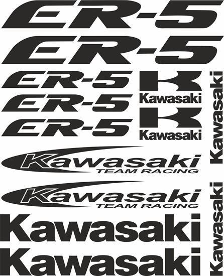 Picture of Kawasaki ER-5 1997 - 2007  Decals / Stickers kit