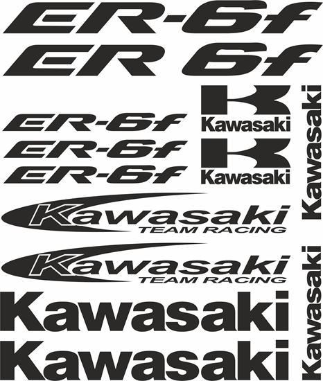 Picture of Kawasaki ER-6f 2005 - 2008  Decals / Stickers kit