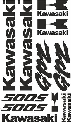 Picture of Kawasaki GPZ 500S 2005 on on  Decals / Stickers kit
