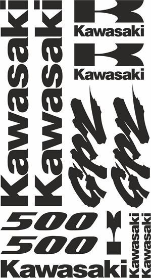 Picture of Kawasaki GPZ 500  Decals / Stickers kit