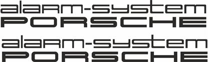 "Picture of Porsche ""Alarm System Porsche""  General glass Decals / Stickers"