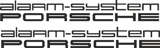 """Picture of Porsche """"Alarm System Porsche""""  General glass Decals / Stickers"""