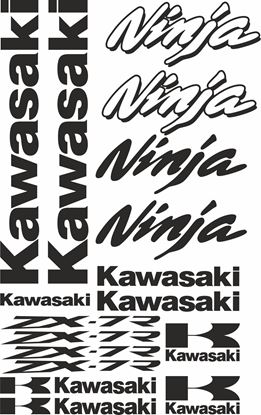 Picture of Kawasaki ZX-7R  Decals / Stickers kit