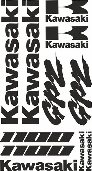 Picture of Kawasaki GPZ 1000  Decals / Stickers kit