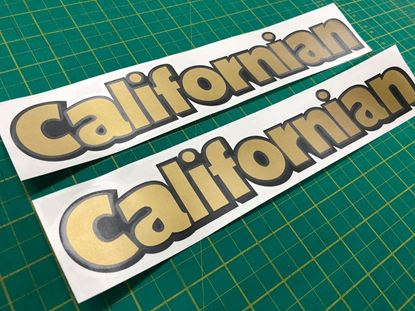 "Picture of Mini Moke ""Californian"" panel replacement Decals / Stickers"