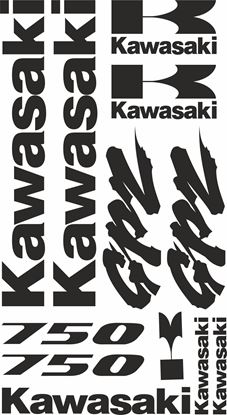 Picture of Kawasaki GPZ 700  Decals / Stickers kit