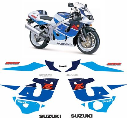 Picture of Suzuki GSX-R 750 1997 - 1998 replacement Decals / Stickers