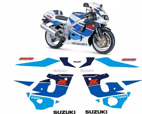 Picture of Suzuki GSX-R 750 1996 - 1997 replacement Decals / Stickers