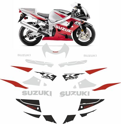 Picture of Suzuki GSX-R 750 2001 replacement Decals / Stickers