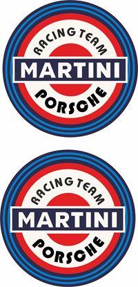 Picture of Porsche Martini 1970's historic Decals / Stickers