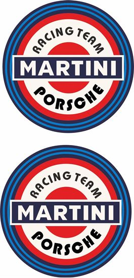 Picture of Porsche Martini 1970's historic Decals / Stickers