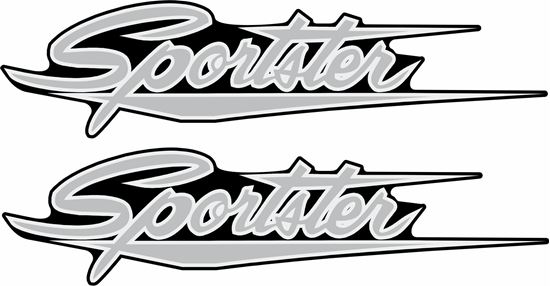 Picture of Harley Davidson Sportster panel / Tank  Decals / Stickers