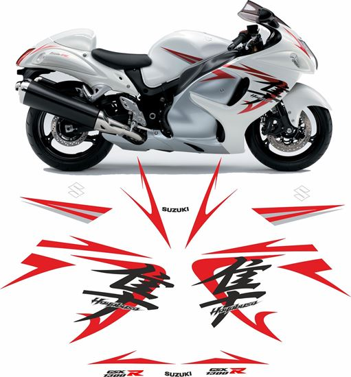 Picture of Suzuki GSX 1300R  Hayabusa 2008  full replacement Decals / Stickers