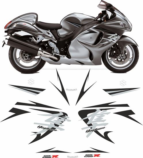 Picture of Suzuki GSX 1300R  Hayabusa 2009  full replacement Decals / Stickers