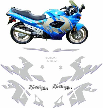 Picture of Suzuki GSX750F 1992 replacement Decals / Stickers