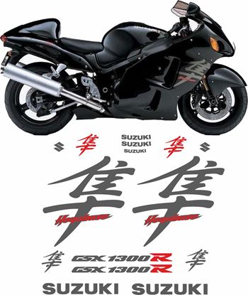 Picture of Suzuki GSX 1300R  Hayabusa  2003 & 2007 full replacement Decals / Stickers
