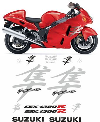 Picture of Suzuki GSX 1300R  Hayabusa 2007 full replacement Decals / Stickers
