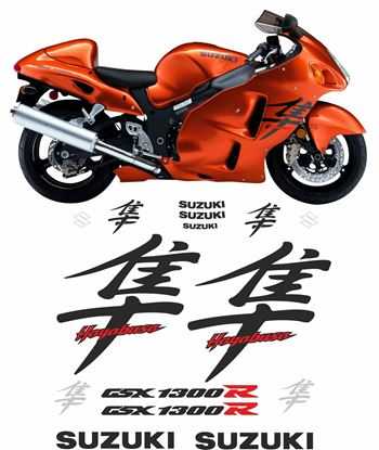 Picture of Suzuki GSX 1300R  Hayabusa 2003 full replacement Decals / Stickers