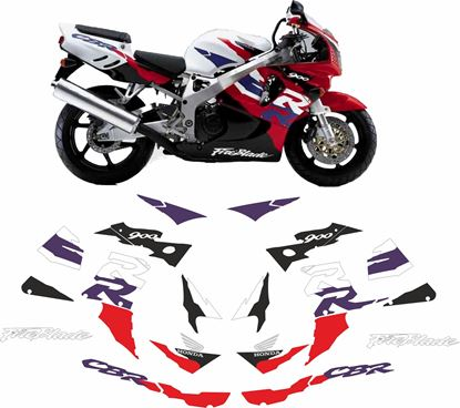Picture of Honda CBR 900RR  Full Fireblade 1997 replacement Decals / Stickers