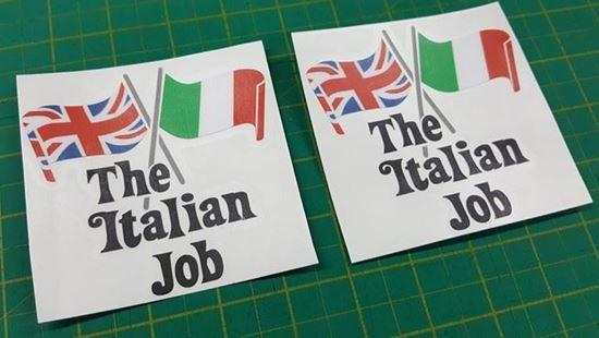 "Picture of Mini ""The Italian Job"" Decals / Stickers (Black)"