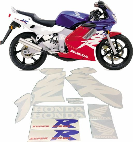 NSR 125 2000 complete decals stickers graphics kit set autocollant adhesives 99