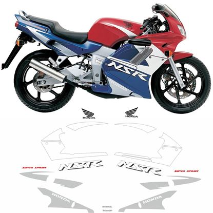 Picture of Honda NSR 125R  2001 - 2002 replacement Decals / Stickers