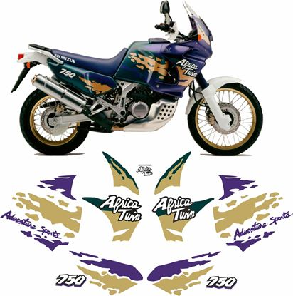Picture of Honda XRV African Twin 750 1994 full replacement Decals / Stickers