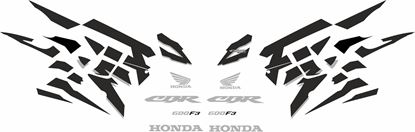 Picture of Honda CBR 600 F3 1995 - 1998 Custom colour replacement graphics / Stickers
