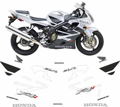 Picture of Honda CBR 600F4i 2001 - 2003  replacement graphics / Stickers