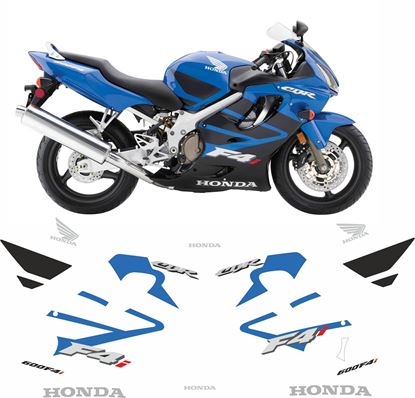 Picture of Honda CBR 600F 4i 2004 - 2007  replacement graphics / Stickers