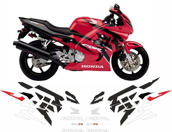 NSR WHITE FAIRING PANEL SMALL CUSTOM DECALS GRAPHICS STICKERS