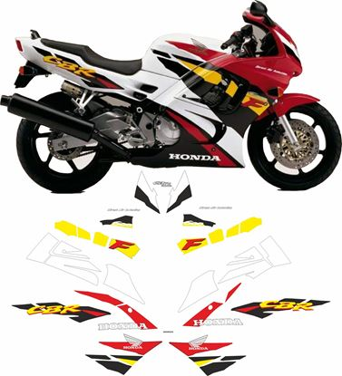 Picture of Honda CBR 600 F 1995 - 1996 Replacement Decals / Stickers