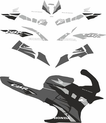 Picture of Honda CBR 600 F 1995 - 1996 Custom Colour Replacement Decals / Stickers