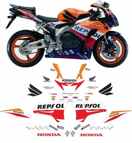 Picture of Honda CBR 1000RR 2007 full Repsol  WSB race replica Decals / Stickers
