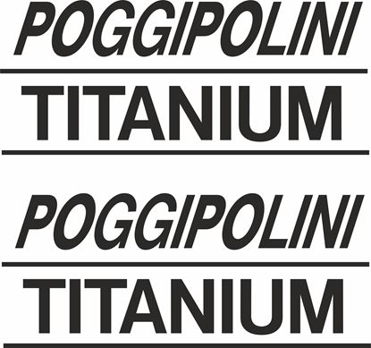 "Picture of ""Poggipolini Titanium"" Track and street race sponsor logo"