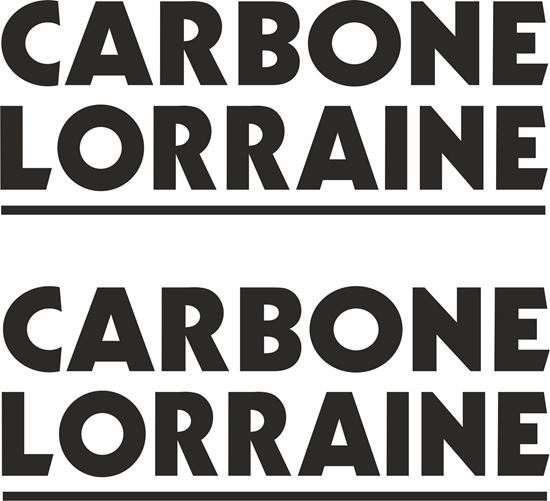 "Picture of ""Carbone Lorraine"" Track and street race sponsor logo"